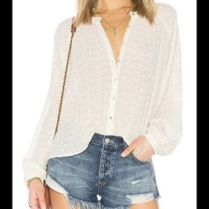 Free People Down From The Clouds White Eyelet Over